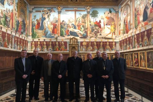 Los Obispos de la Provincia Eclesiástica de Toledo visitan la Sala Capitular