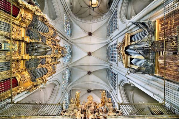 Boveda desde Coro Catedral Toledo