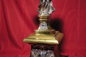 Ángel relicario de Santa Teresa de Jesús. S. XVII