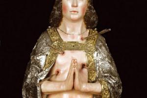 Busto relicario de S. Sebastián. S. XV y XVI